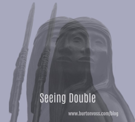 Double vision of an Apache warrior.